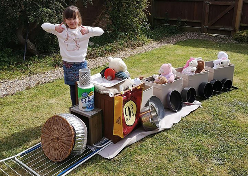 A Build-a-train entry from Exeter's Emily Salter